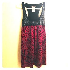 Red fabulosity print tank top